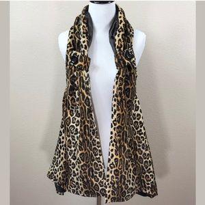 Beverly's Vintage Leopard Medium Vest Faux Fur